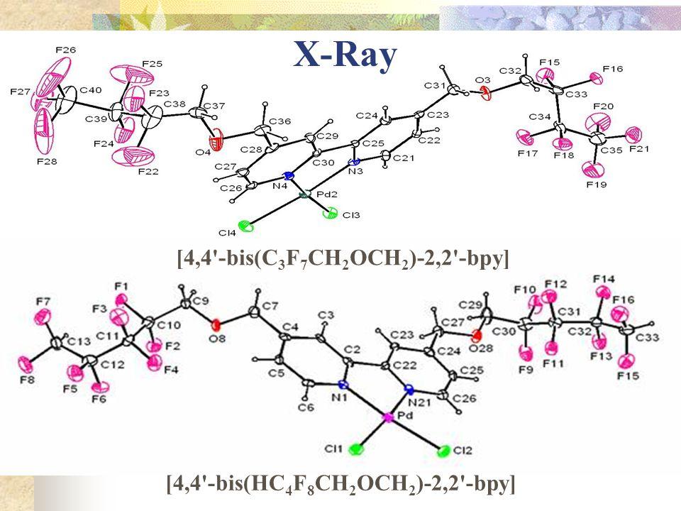 X-Ray [4,4 -bis(C3F7CH2OCH2)-2,2 -bpy]